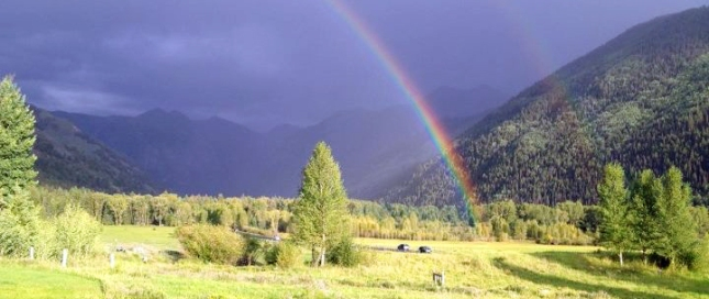 Double Rainbow in the Telluride Valley